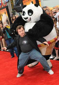 "Actor Jack Black arrives on the red carpet for the Los Angeles premiere Of DreamWorks Animation's ""Kung Fu Panda 2"" at Grauman's Chinese Theatre in Hollywood, California. on May 22, 2011. Photo: Mark Ralston, AFP/Getty Images"