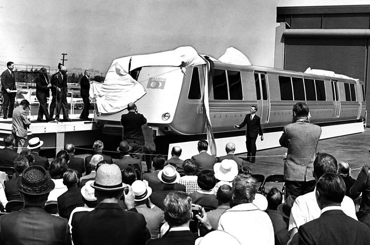 The first BART car in unveiled on June 27, 1965.The first BART car in unveiled on June 27, 1965.