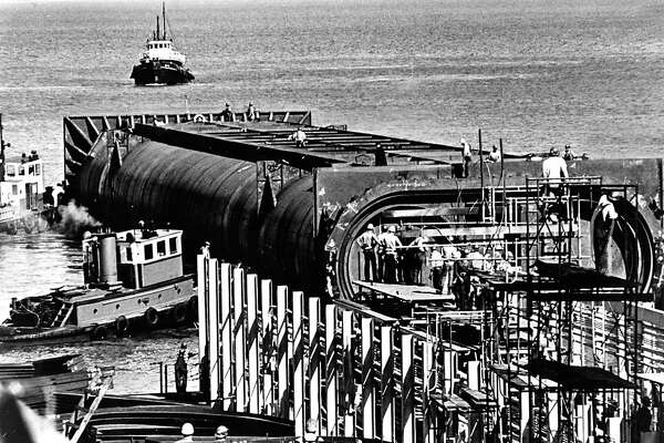 The BART bay tunnel in the early stages, on Oct. 7, 1966.The BART bay tunnel in the early stages, on Oct. 7, 1966.