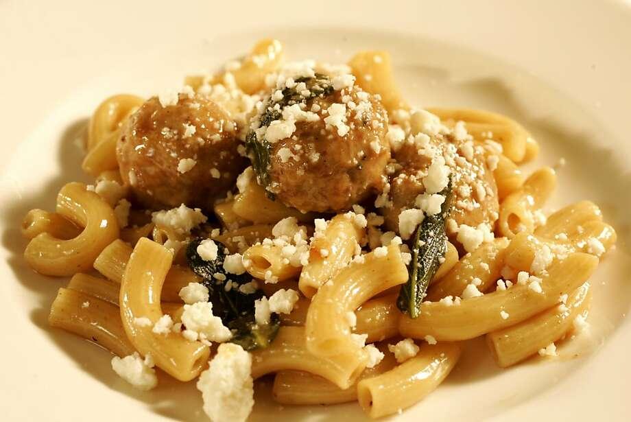 Chicken Meatballs with Pasta Photo: Craig Lee, SFC
