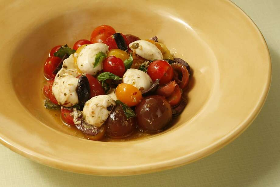 Marinated Bocconcini with Cherry Tomatoes. Photo: Photo By Craig Lee, SFC