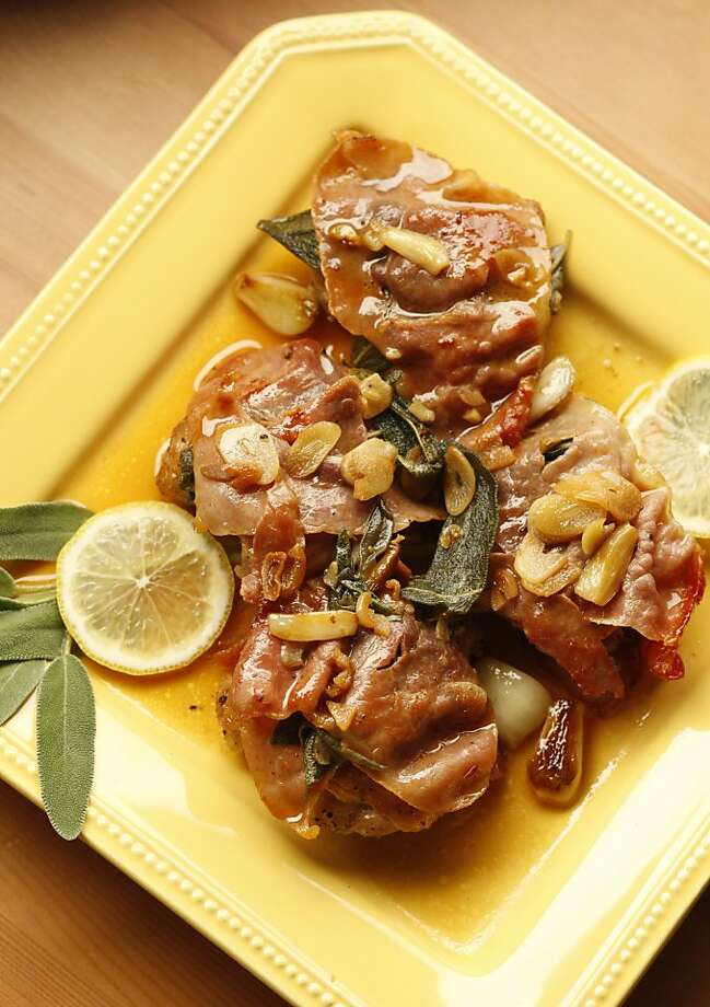 Chicken Saltimbocca with Lemon Pan Jus in San Francisco, Calif., on December 31, 2008. Food styled by Debra Day. Photo: Craig Lee, The Chronicle