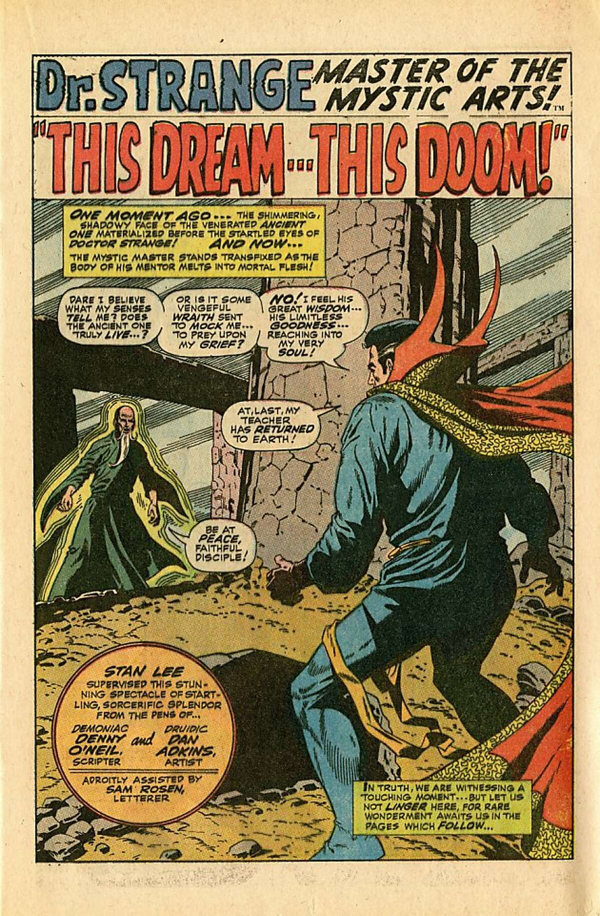 THE GURU -- The Ancient One, mentor of Dr. Stephen Strange, in Strange Tales 167 (1968).