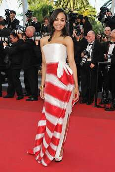 """CANNES, FRANCE - MAY 16:  Actress Zoe Saldana attends """"The Tree Of Life"""" premiere during the 64th Annual Cannes Film Festival at Palais des Festivals on May 16, 2011 in Cannes, France. Photo: Pascal Le Segretain, Getty Images"""