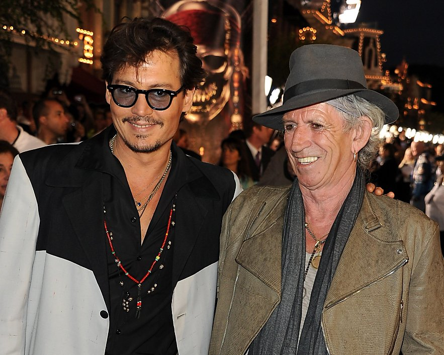 Keith Richards cheating death my fear of camera phones and Vanessa Paradis A surreal evening with Johnny Depp By Martyn Palmer for The Mail on Sunday