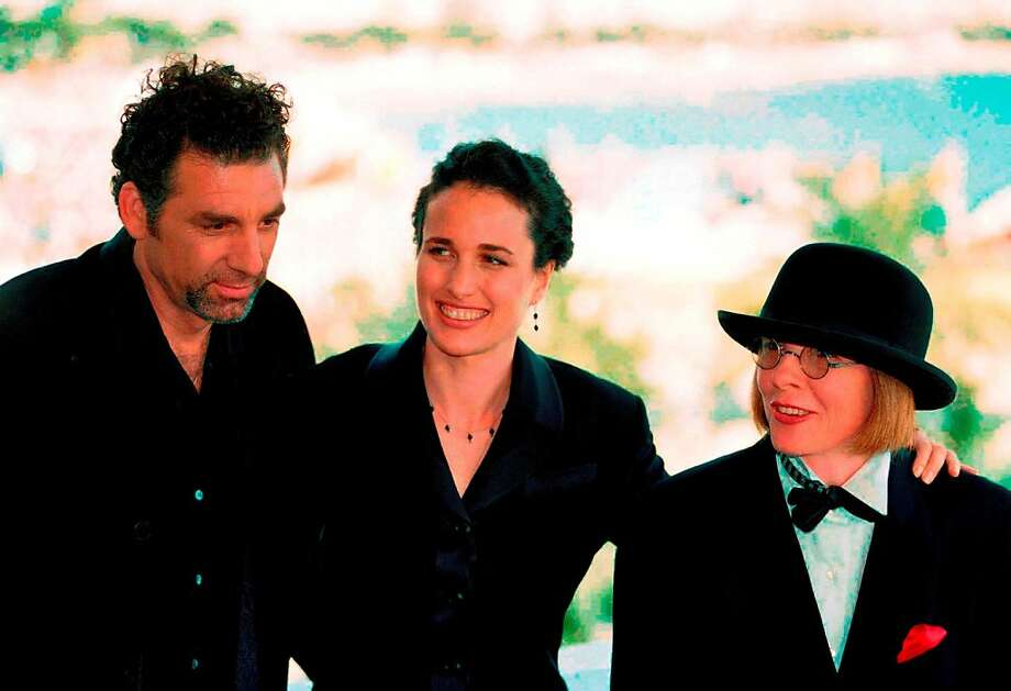 "US director Diane Keaton, poses with the main actors of her movie ""Unstrung Heroes"" Michael Richards, left and Andie MacDowell both of the USA before the screening of their movie which competes in the ""Un certain Regard"" (A certain look) category at the International film festival in Cannes, French Riviera on Friday May 19, 1995. Photo: AP / Laurent Rebours"