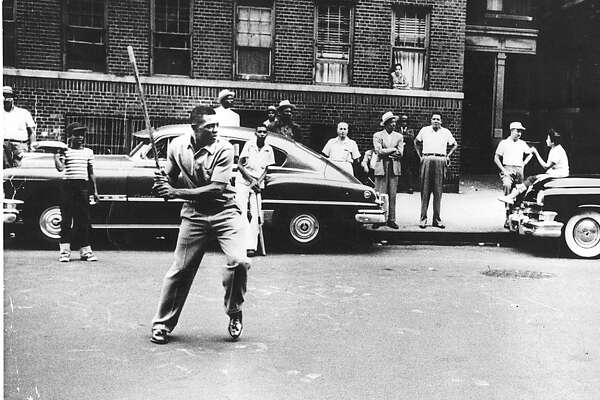 Ran on: 09-17-2005 A young Willie Mays plays stickball in New York City shortly after joining the then-New York Giants in the early '50s.