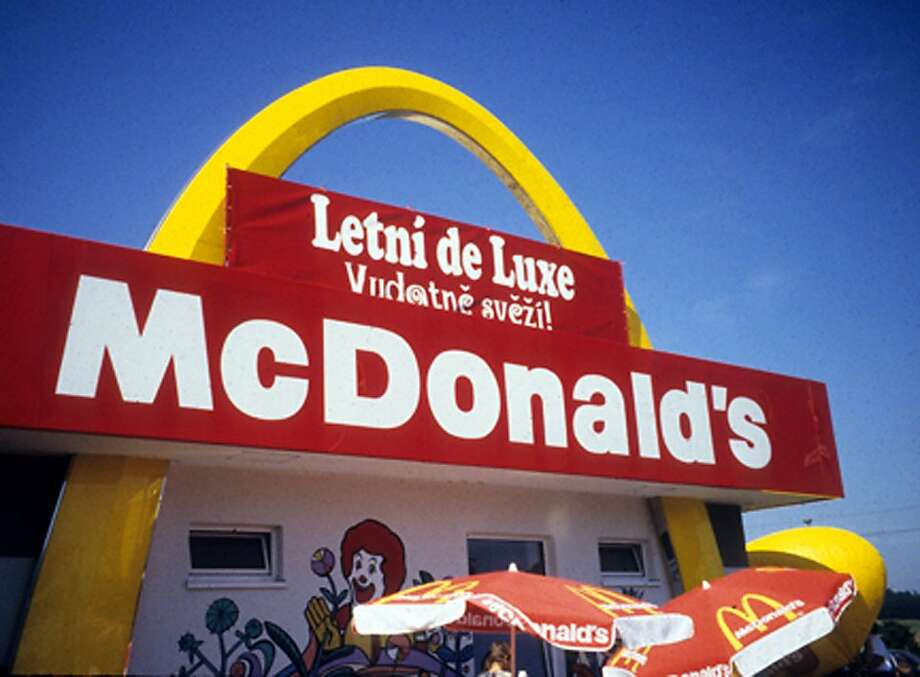 McDonald's is an ever-present symbol of American food in Italy; in fact, the hamburger empire is the number one fast-food chain in Europe. Photo: David C. Hoerlein