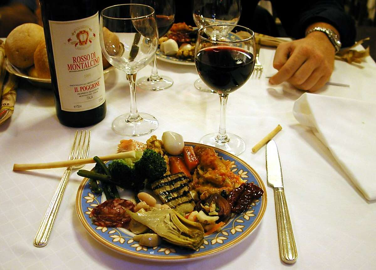 Europeans often judge American food based on their own cuisine, such as this plate of Italian specialties.