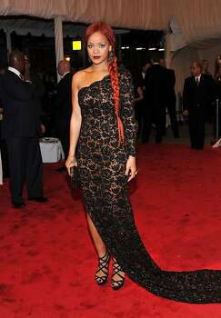 "NEW YORK, NY - MAY 02:  Rihanna attends the ""Alexander McQueen: Savage Beauty"" Costume Institute Gala at The Metropolitan Museum of Art on May 2, 2011 in New York City. Photo: Stephen Lovekin, Getty Images"