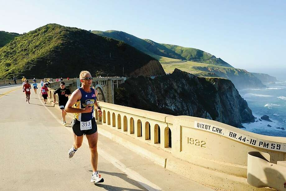 The Bixby Bridge is a picturesque milepost for participants in the Big Sur International Marathon. Photo: Doug Steakley