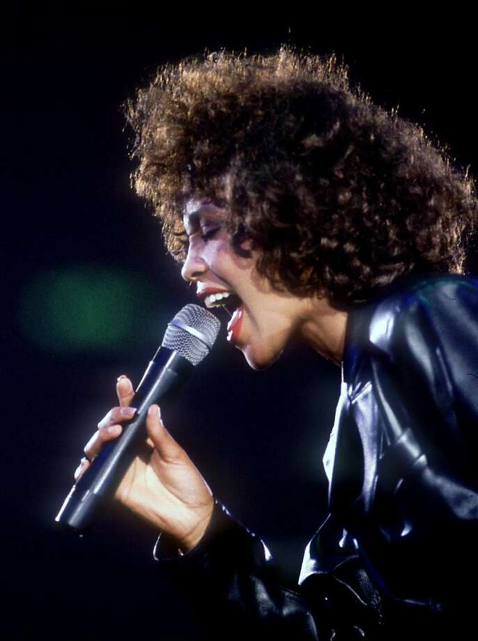 American pop star Whitney Houston in concert, circa 1990. (Photo by Dave Hogan/Hulton Archive/Getty Images) Photo: Dave Hogan / Getty Images
