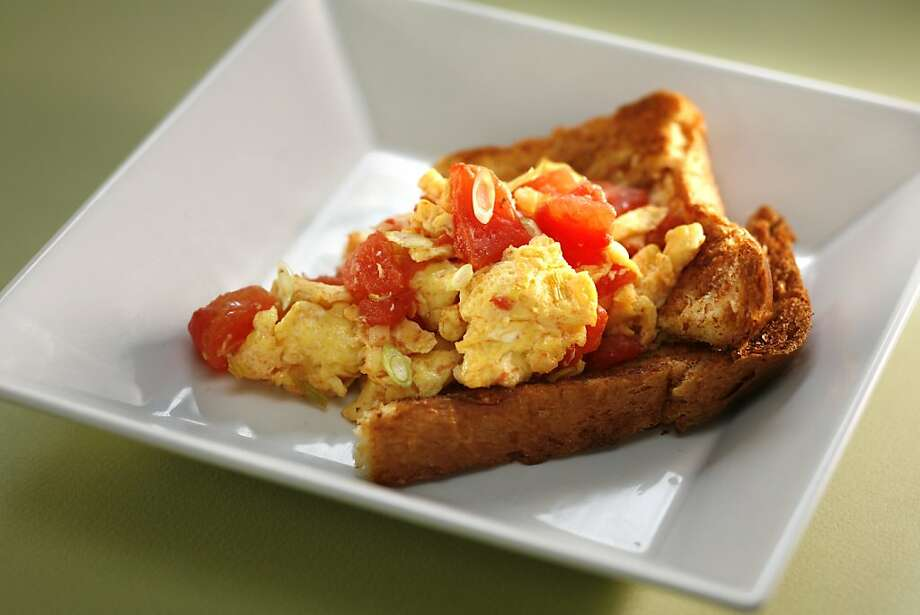 Beijing-Style Scrambled Eggs with Tomatoes. Food styled by Audrey Sherman. Photo by Craig Lee / The Chronicle Photo: Photo By Craig Lee, The Chronicle