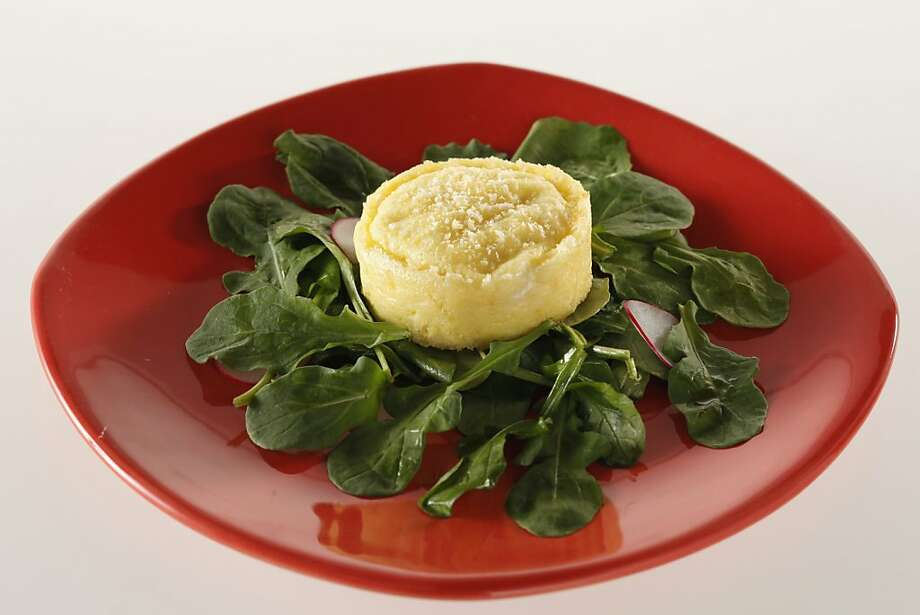 Twice-Baked Goat Cheese Souffle from Sidebar (Zax) in San Francisco, Calif., on January 20, 2010. Food styled by Kalena Ross. Photo: Craig Lee, Special To The Chronicle