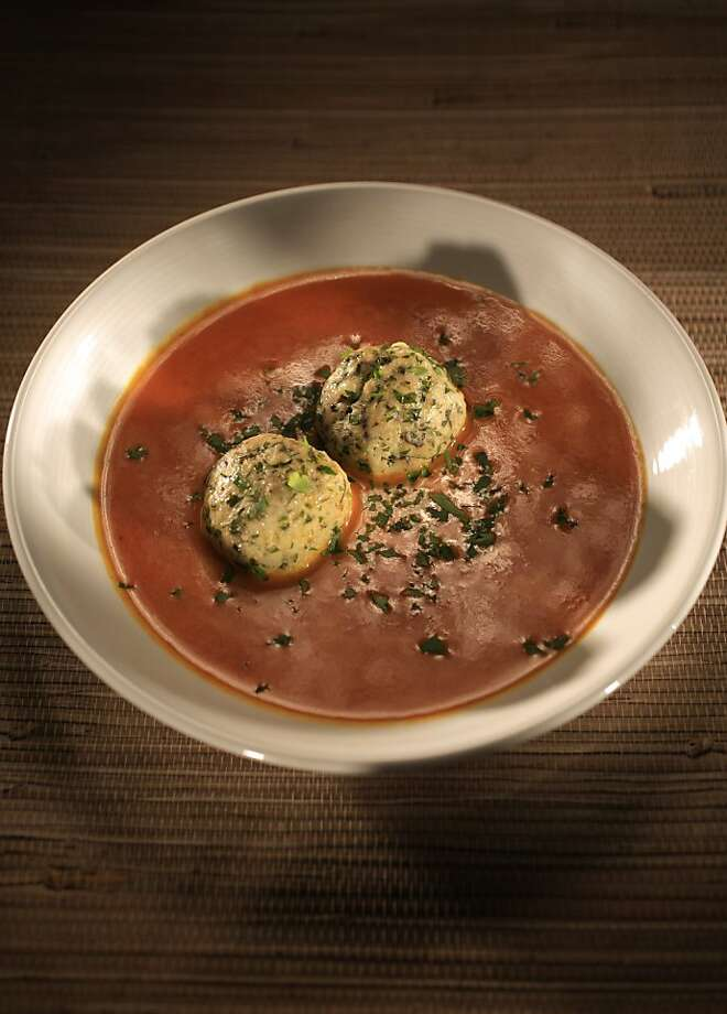 Matzo Balls With Parsley and Sage: These matzo balls are very versatile. Click here for the recipe.  Photo: John Lee, SFC