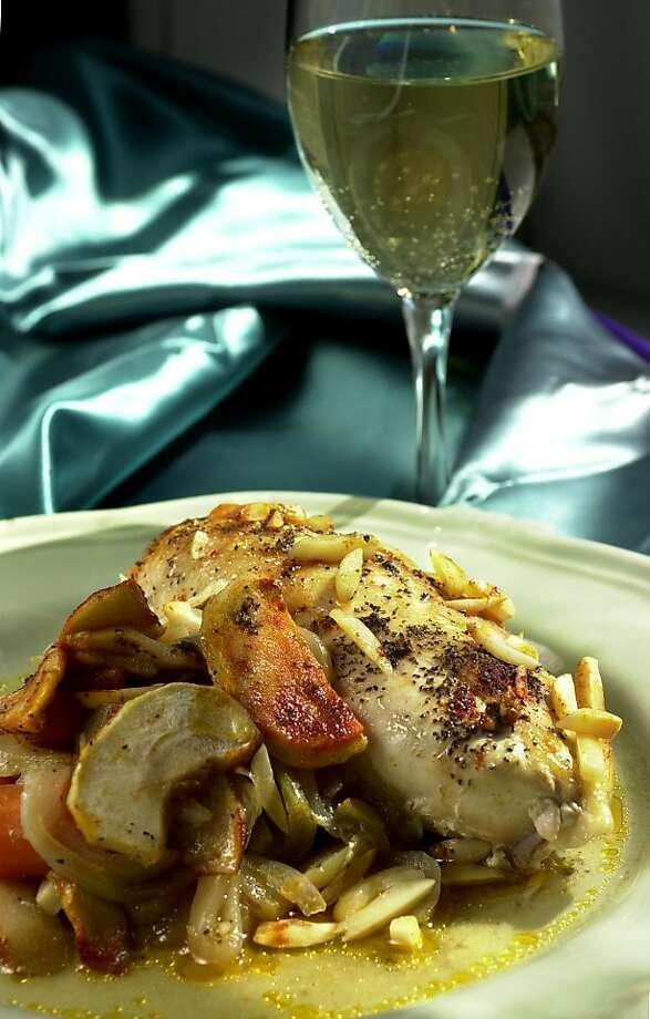 Chicken A La Pesach: The apples keep the chicken moist. Click here for the recipe.  Photo: Craig Lee, SFC