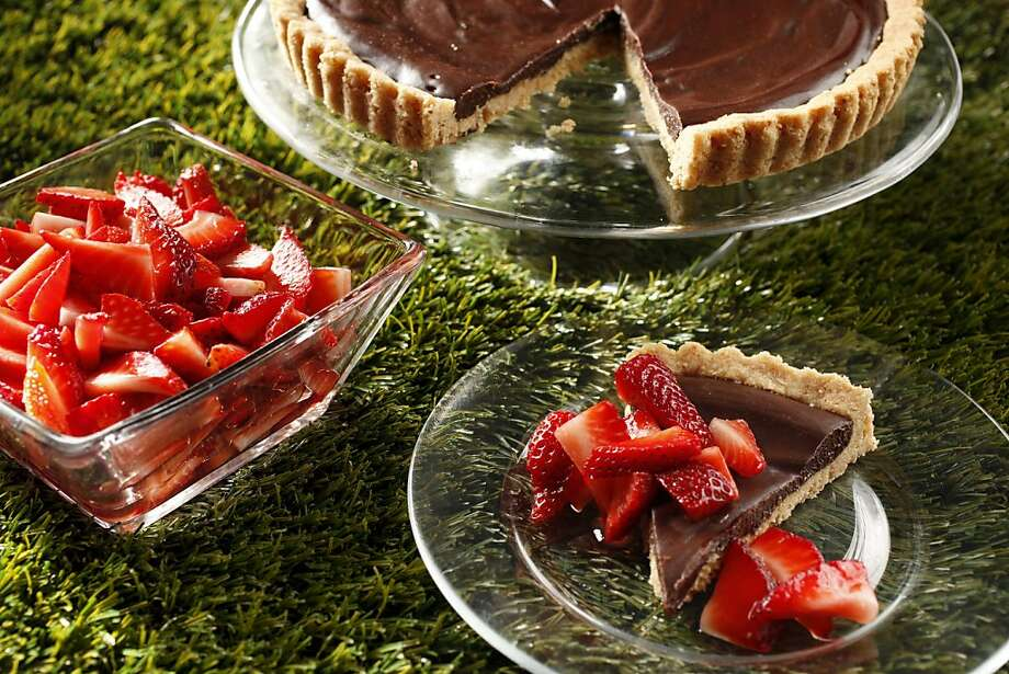 Toasted Almond Chocolate Ganache Shortbread Tart: Serve this Passover tart with macerated strawberries to showcase the seasonal fruit. Click here for the recipe. Photo: Craig Lee, Special To The Chronicle