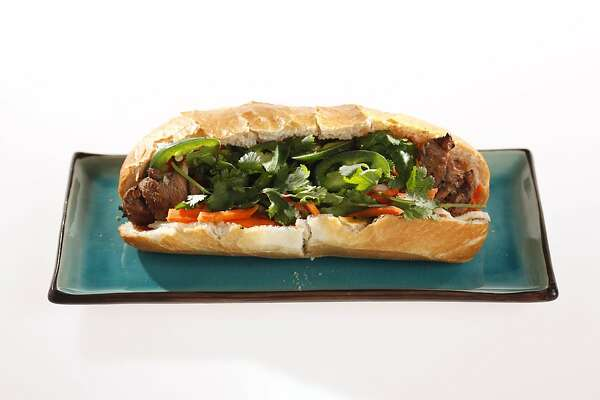 Banh mi ga, Vietnamese chicken sandwich as seen in San Francisco, California, on Friday, March 23, 2011.