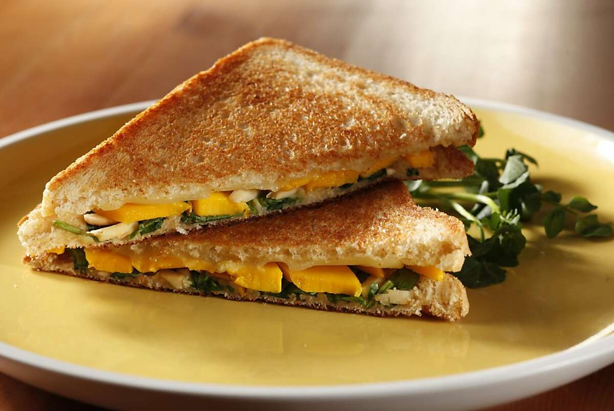Mango and Watercress Grilled Cheese Sandwich in San Francisco, Calif., on June 9, 2010. Food styled by Katie Popoff.