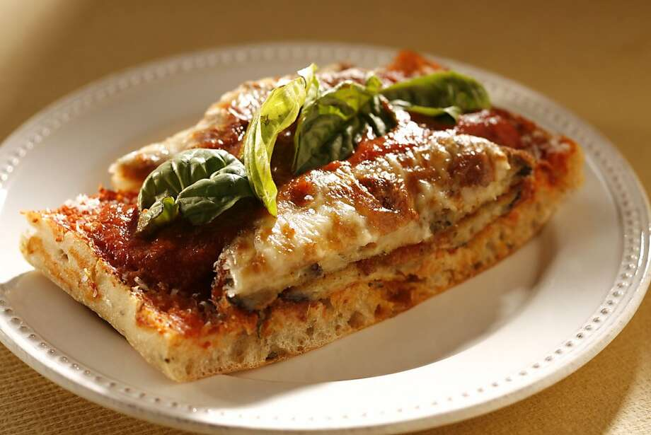 Eggplant Parmesan Sandwich with Tomato Sauce in San Francisco, Calif., on July 22, 2009. Food styled by Mathew Ramsey. Photo: Craig Lee, The Chronicle