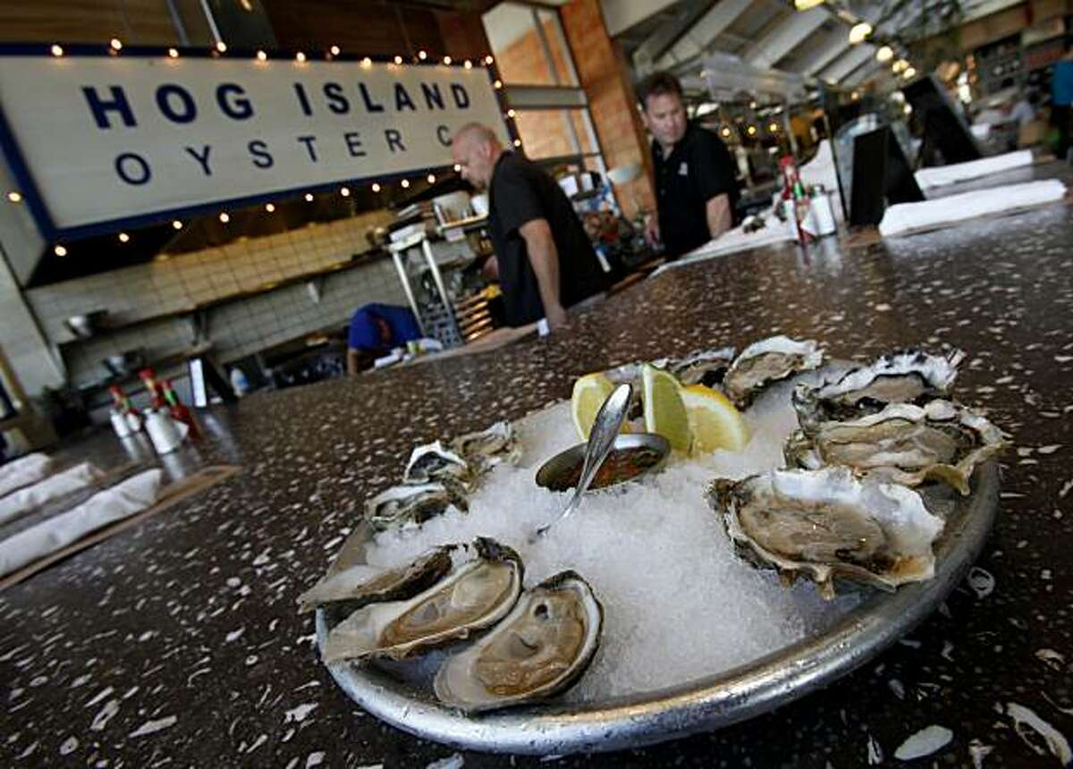 At the popular Hog Island Oyster Company, fresh raw oysters from Tomales Bay are on the menu every day. Various popular restaurants in Napa, Calif. including Bistro Don Giovanni, Angele, Morimoto Napa and eating places in the Oxbow Public Market.