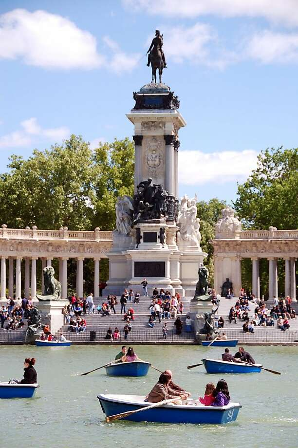 Madrid's Retiro Park was once a royal reserve; now it's a place where commoners can rent a rowboat by the hour. Photo: Cameron Hewitt