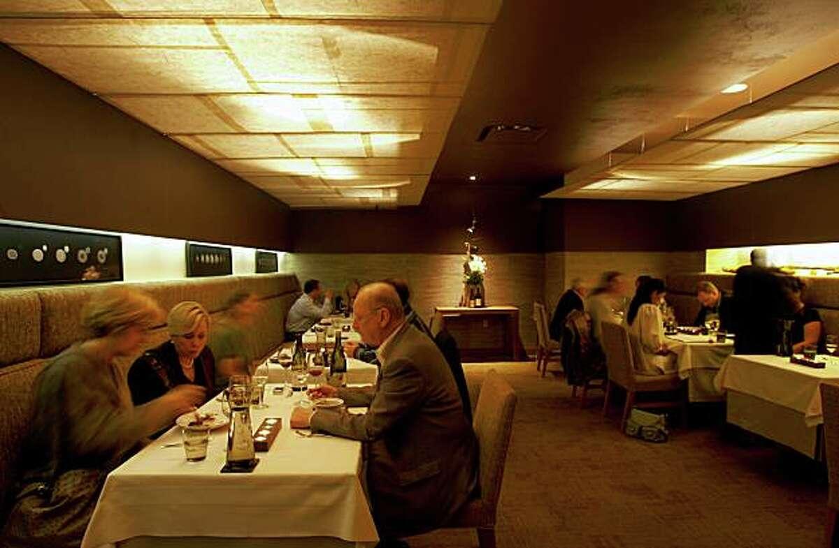 Coi restaurant in North Beach along Broadway near Sansome Street in San Francisco.