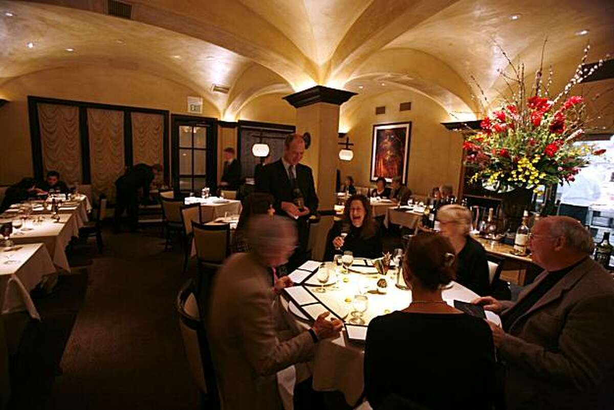 The dining room at Cyrus in Healdsburg.