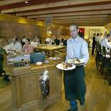 PIPERADE: The dining room of Piperade which serves Basque/California style cuisine.