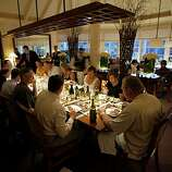 The main dining room at Meadowood in St. Helena.