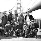 "June 25, 1950 - The ""High Crew"" - Bottom Row: Hale Sharrett, Daniel Galvin, Owen Dittman, James Delfino, Frank Anderson. Standing: John King, Bill Gavre, Gerald Cuff, Harry Fogle, Foreman James Mix."