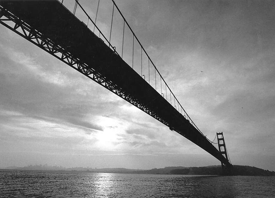 Dec. 18, 1988 - A view of the Golden Gate Bridge from a boat below it. This is the south tower and we are looking toward S.F. Photo: Deanne Fitzmaurice, The Chronicle