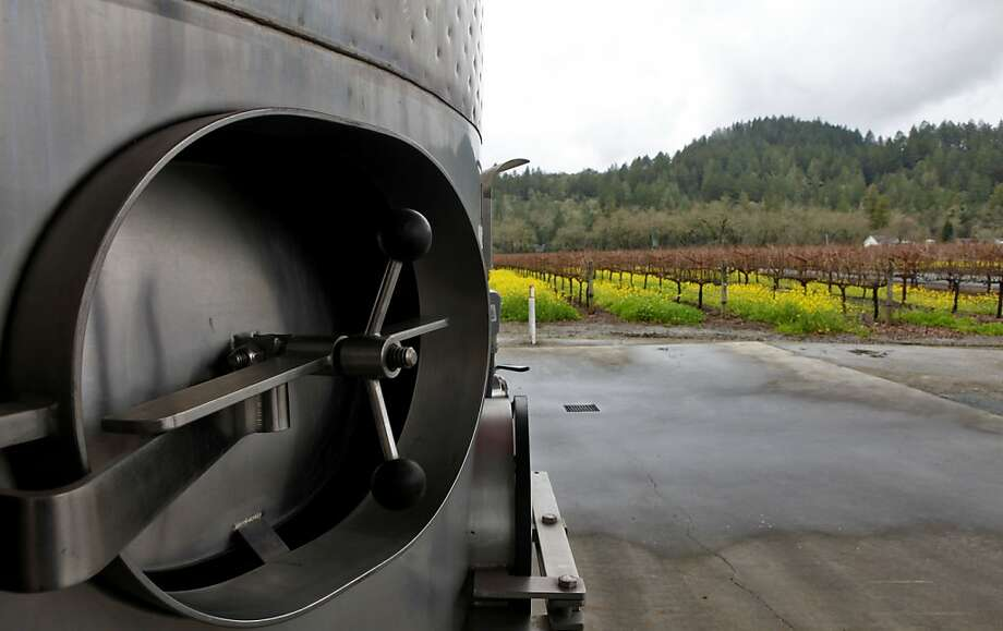 Steel tanks are used in the processing of the wine at the Summers Winery,  Sunday Jan. 17, 2010 in Calistoga, Calif. Photo: Lacy Atkins, The Chronicle
