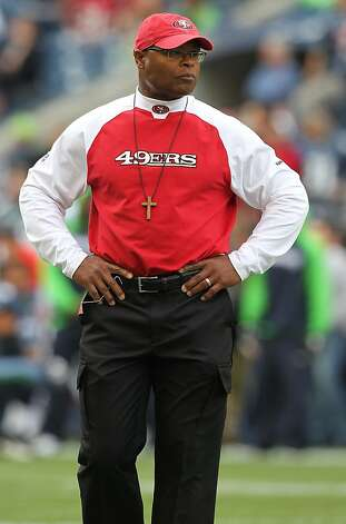 SEATTLE - SEPTEMBER 12:  Head coach Mike Singletary of the San Francisco 49ers looks on during warm ups prior to the NFL season opener against the Seattle Seahawks at Qwest Field on September 12, 2010 in Seattle, Washington. (Photo by Otto Greule Jr/Getty Images) Photo: Otto Greule Jr, Getty Images