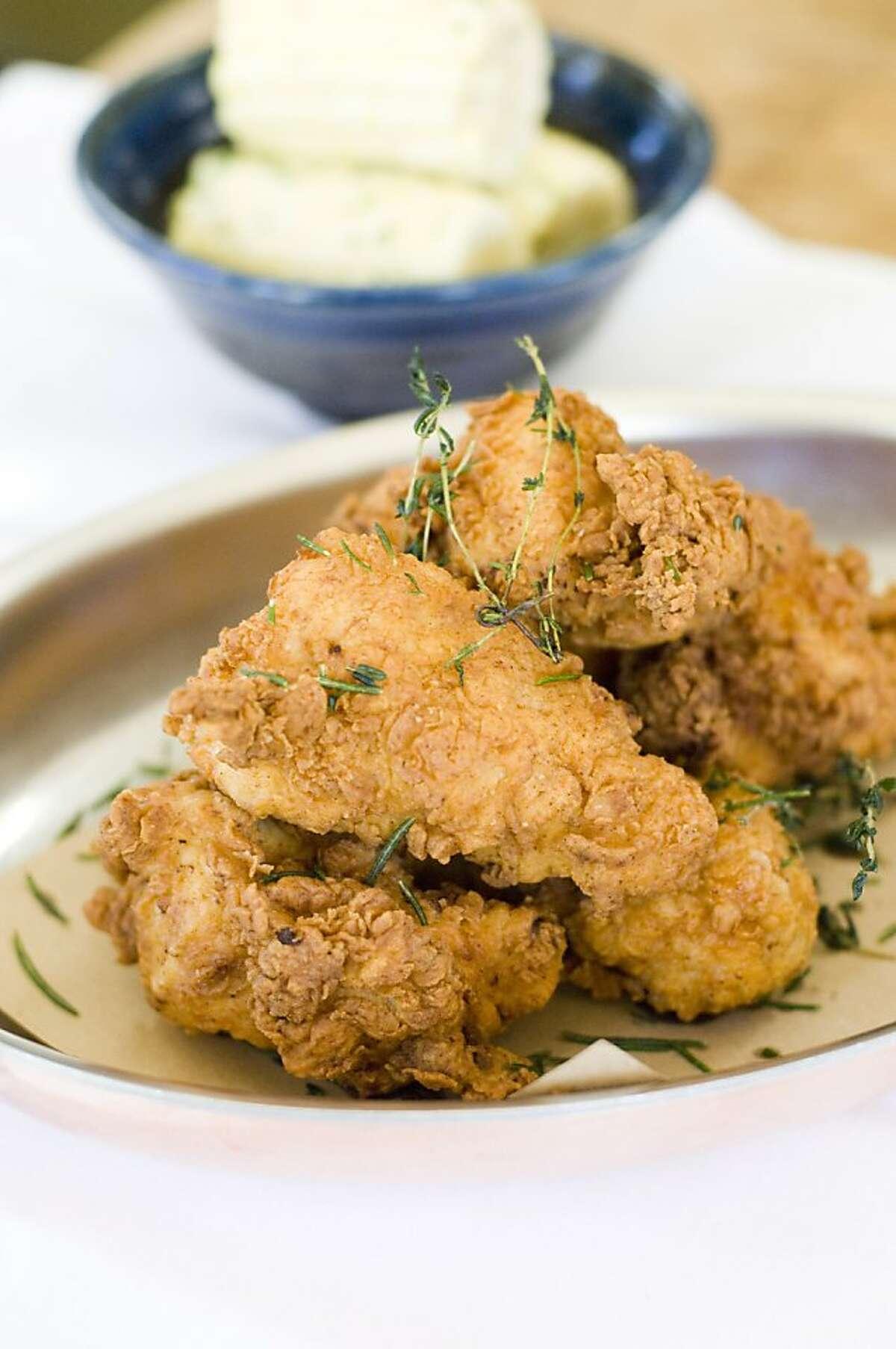 Fried chicken at Addendum, an offshoot of Thomas Keller's Ad Hoc.