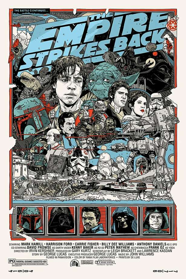 "Poster from ""The Empire Strikes Back,"" part of Mondo's ""Star Wars"" series. Photo: Mondo, Mondotees.com"