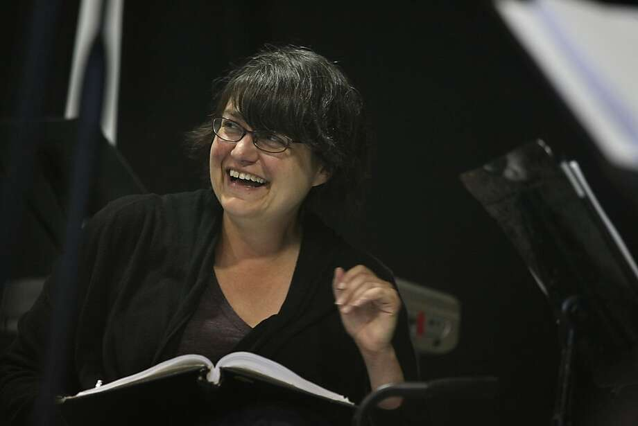 "Amanda Dehnert, director/author/composer of ""The Verona Project, "" listening to readings during a rehearsal at the California Shakespeare Theater rehearsal hall in Berkeley, Calif., on Thursday,  June 24, 2011. Photo: Liz Hafalia, The Chronicle"