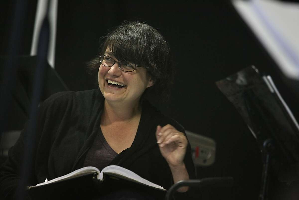 """Amanda Dehnert, director/author/composer of """"The Verona Project, """" listening to readings during a rehearsal at the California Shakespeare Theater rehearsal hall in Berkeley, Calif., on Thursday, June 24, 2011."""