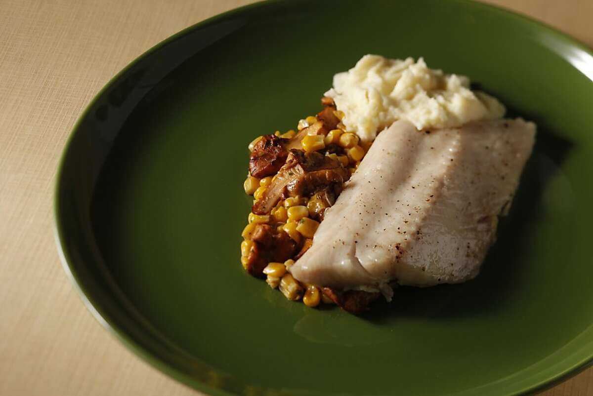 Morro Bay sable fish from chef Danny Abbrunzzese of Asilomar. Food styled by Rochelle Vurek.