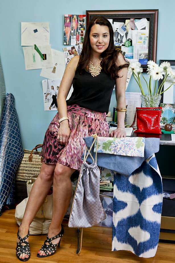 Jennifer Bennett, seen in her San Francisco, Calif., apartment on Tuesday, June 7, 2011, created Jendarling. a company that creates garment bags that are stylish, reusable, and eco-friendly. Photo: Russell Yip, The Chronicle