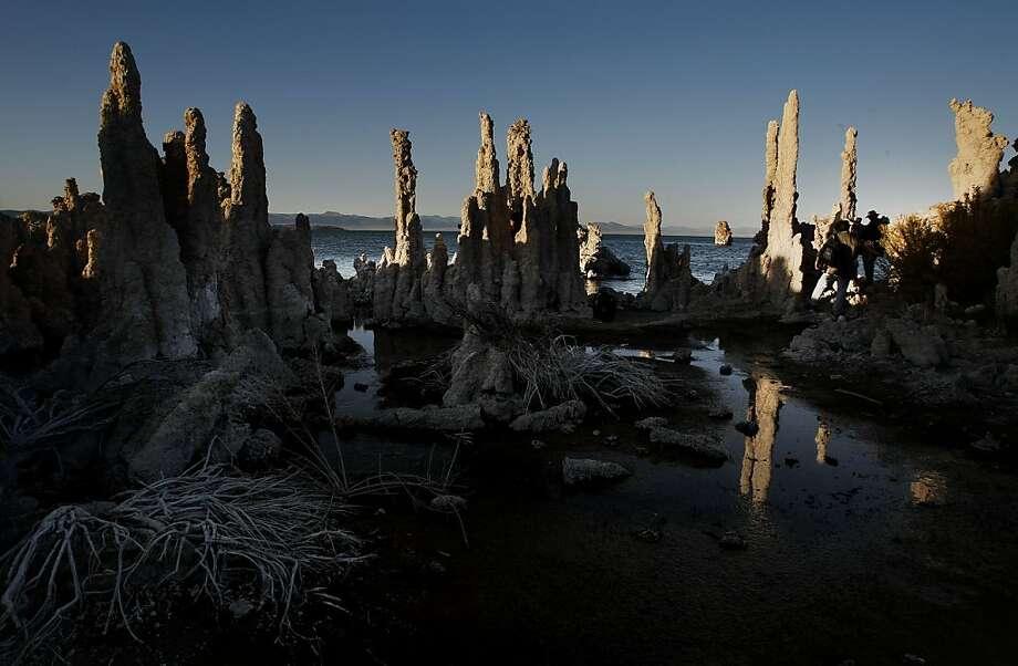 Tufa formations at the South Tufa area of Mono Lake. Photo: Michael Macor, SFC