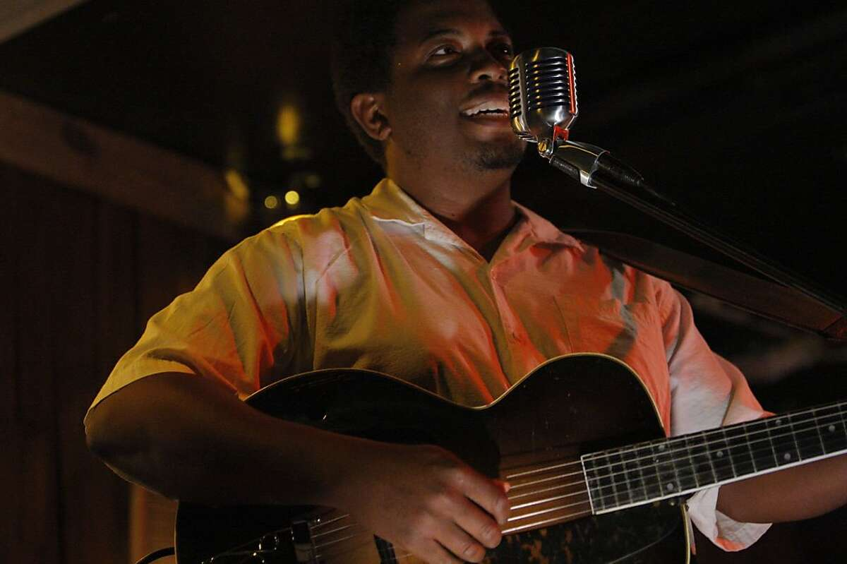 Quinn DeVeaux, an Oakland country and blues singer, plays at Viracocha on Saturday, June 26, 2011, in San Francisco, Calif.