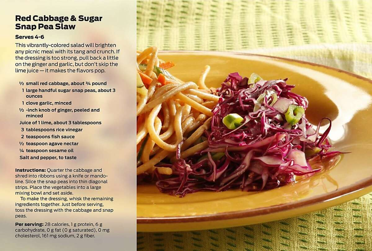Red Cabbage & Sugar Snap Pea Slaw. Styling by Janny Hu and Erick Wong