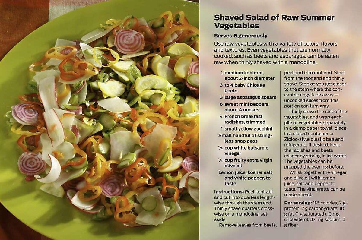 Shaved Salad of Raw Summer Vegetables