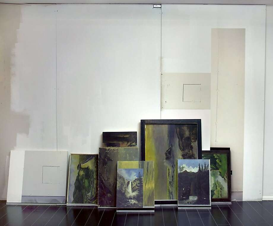 """Still Life Landscape (Sculpture)"" (2011) Pigment prints on drywall, and paint by Castaneda/Reiman Photo: Unknown, Baer Ridgway Exhibitions, .s. F."