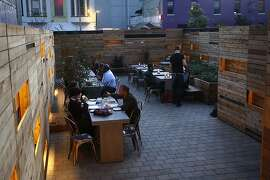 The patio area at Bar Agricole during the dinner hour in San Francisco, Calif., on Friday, October 15, 2010.
