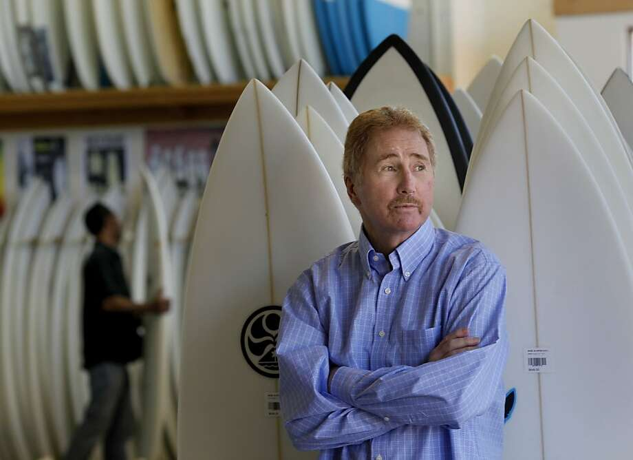 Bob Wise has lived the Bay Area surfing scene. Bob Wise opened his first surfing shop in San Francisco, Calif. in 1968, and now has a large establishment on the Great Highway. Photo: Brant Ward, The Chronicle
