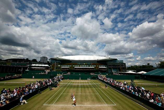 A general view over the courts on Day Ten of the Wimbledon Lawn Tennis Championships at the All England Lawn Tennis and Croquet Club on June 30, 2011 in London, England. Photo: Julian Finney, Getty Images