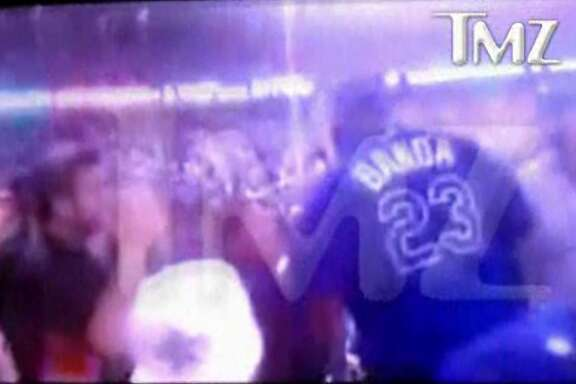 Video from TMZ.com shows Bryan Stow getting into an argument with a Dodgers fan in the Dodgers home opener.