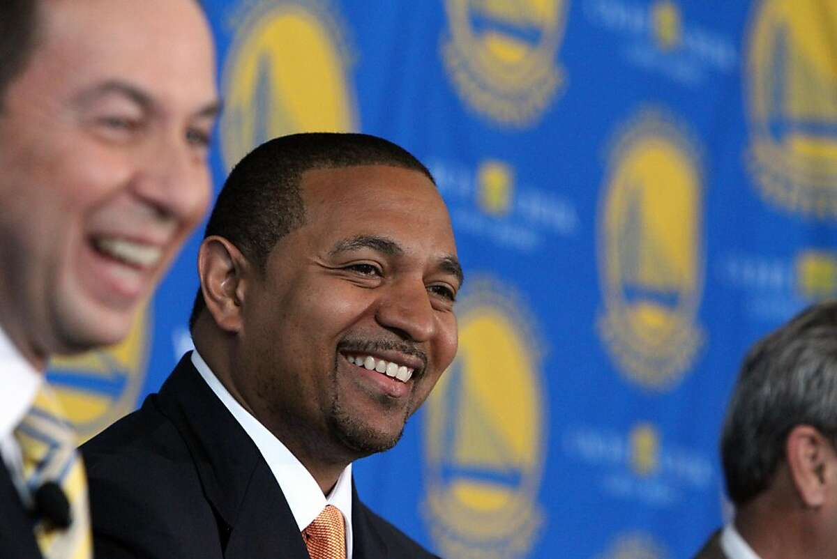 The Golden State Warriors introduce their new Head Coach, Mark Jackson, during a press conference at the St. Regis Hotel in San Francisco, CA Friday, June 10, 2011.